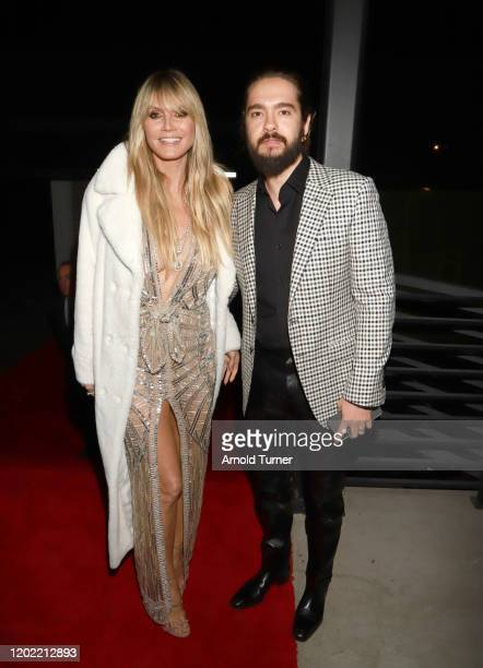 Heidi Klum and Tom Kaulitz attend the Universal Music Group's 2020 Grammy after party presented by Lenovo at Rolling Greens Nursery on January 26...