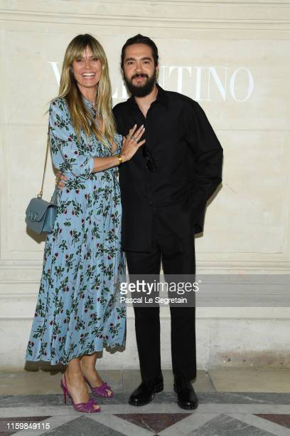 Heidi Klum and Tom Kaulitz attend the Valentino Haute Couture Fall/Winter 2019 2020 show as part of Paris Fashion Week on July 03, 2019 in Paris,...