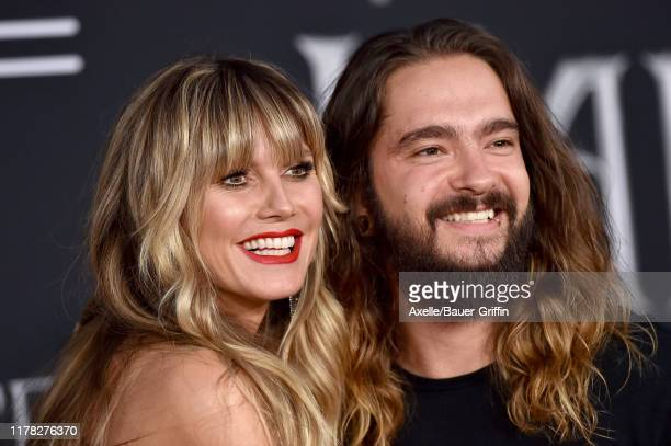 "Heidi Klum and Tom Kaulitz attend the World Premiere of Disney's ""Maleficent: Mistress of Evil"" at El Capitan Theatre on September 30, 2019 in Los..."