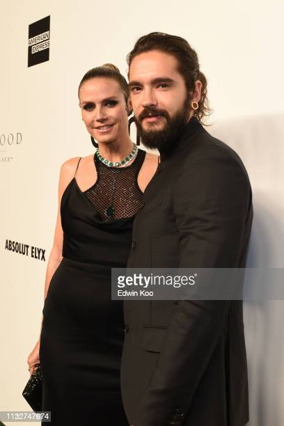 Heidi Klum and Tom Kaulitz attends the amfAR Gala Hong Kong 2019 at the Rosewood Hong Kong on March 25 2019 in Hong Kong Hong Kong