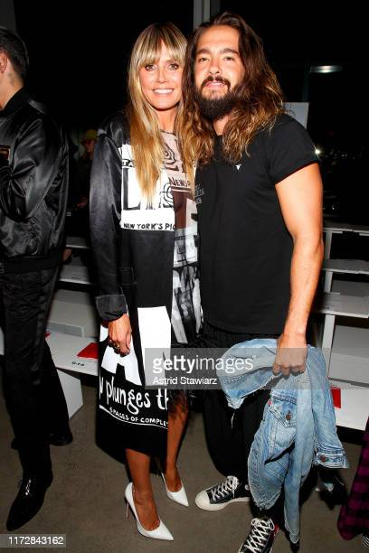 Heidi Klum and Tom Kaulitz attends the Jeremy Scott front row during New York Fashion Week: The Shows at Gallery I at Spring Studios on September 06,...