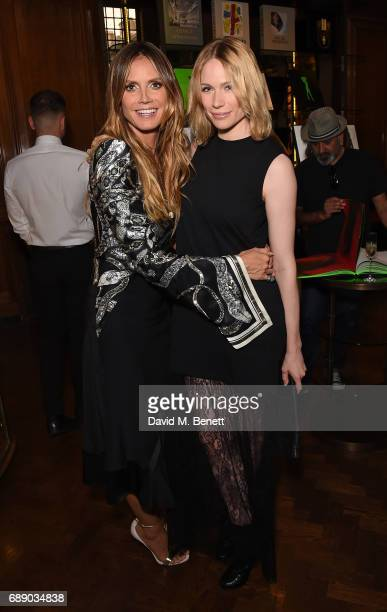 Heidi Klum and Tuuli Shipster attend the launch of new book Heidi Klum By Rankin at Maison Assouline on May 27 2017 in London England