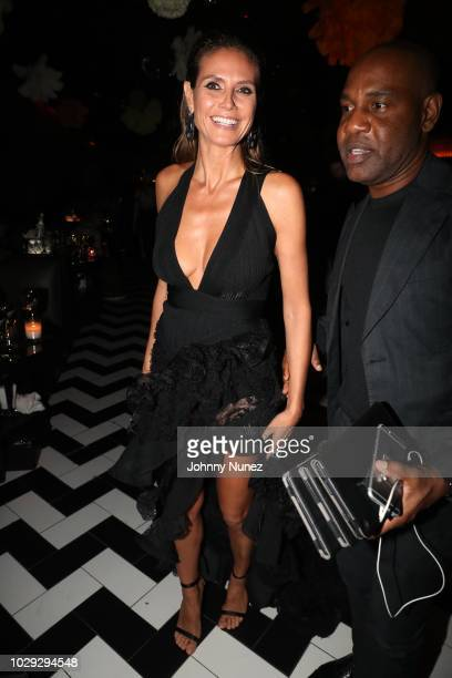 Heidi Klum and Unique attend the Harper's Bazaar ICONS After Party on September 7, 2018 in New York City.