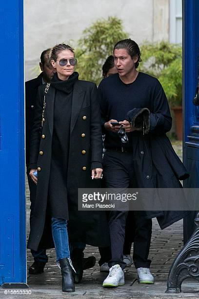 Heidi Klum and Vito Schnabel are seen in Le Marais quarter on October 20 2016 in Paris France