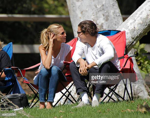 Heidi Klum and Vito Schnabel are seen on September 27 2014 in Los Angeles California