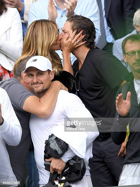 Heidi Klum and Vito Schnabel attend day eleven of the Wimbledon Tennis Championships at Wimbledon on July 08, 2016 in London, England.