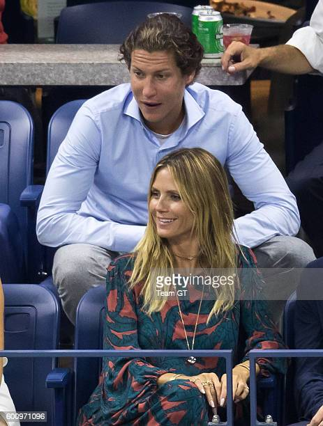 Heidi Klum and Vito Schnabel seen at USTA Billie Jean King National Tennis Center on September 8 2016 in the Queens borough of New York City