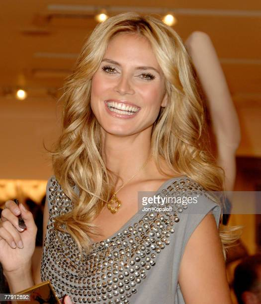 Heidi Klum announces 'The Heidi Klum Very Sexy Makeup Collection by Victoria Secret' at Victoria Secret Store at The Grove on October 26 2007 in Los...
