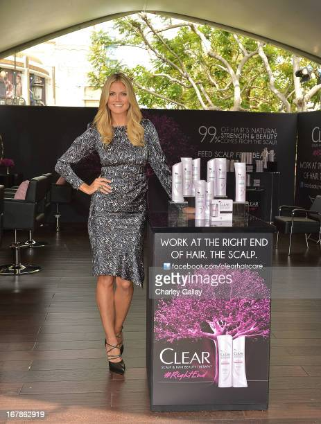 Heidi Klum appeared at The Grove in Los Angeles to lead the Right End Hair Revolution a movement sparked by CLEAR SCALP HAIR BEAUTY THERAPY that...
