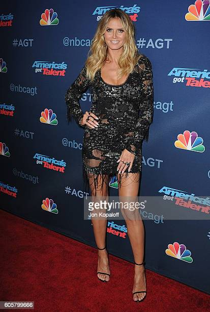 Heidi Klum arrives at 'America's Got Talent' Season 11 Finale Live Show at Dolby Theatre on September 14 2016 in Hollywood California