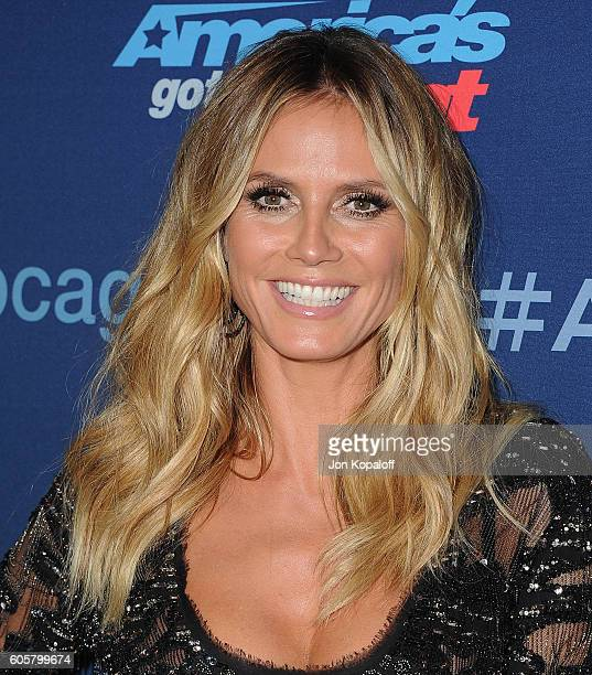 Heidi Klum arrives at America's Got Talent Season 11 Finale Live Show at Dolby Theatre on September 14 2016 in Hollywood California