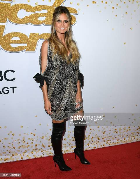 Heidi Klum arrives at 'America's Got Talent' Season 13 Live Show Red Carpet at Dolby Theatre on August 21 2018 in Hollywood California