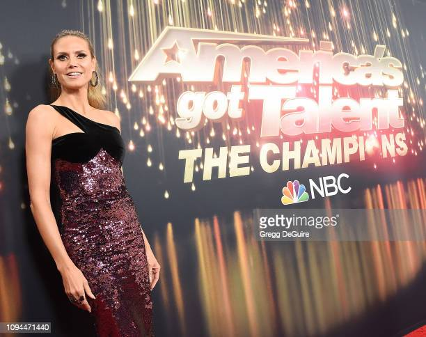 Heidi Klum arrives at America's Got Talent The Champions Finale at Pasadena Civic Auditorium on October 17 2018 in Pasadena California