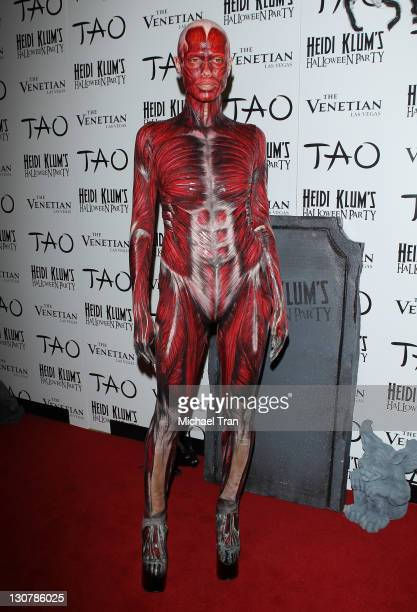 Heidi Klum arrives at her 12th Annual Halloween Party at TAO Nightclub at The Venetian on October 29 2011 in Las Vegas Nevada