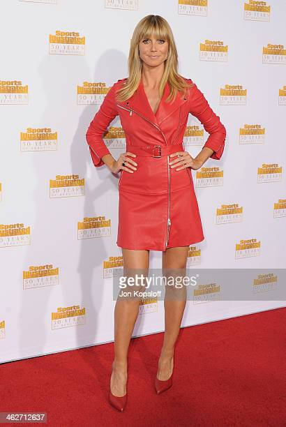 Heidi Klum arrives at NBC And Time Inc Celebrate 50th Anniversary Of Sports Illustrated Swimsuit Issue at Dolby Theatre on January 14 2014 in...