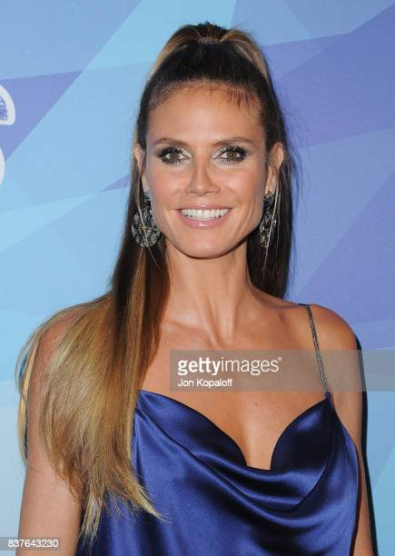 Heidi Klum arrives at NBC's 'America's Got Talent' Season 12 Live Show at Dolby Theatre on August 22 2017 in Hollywood California