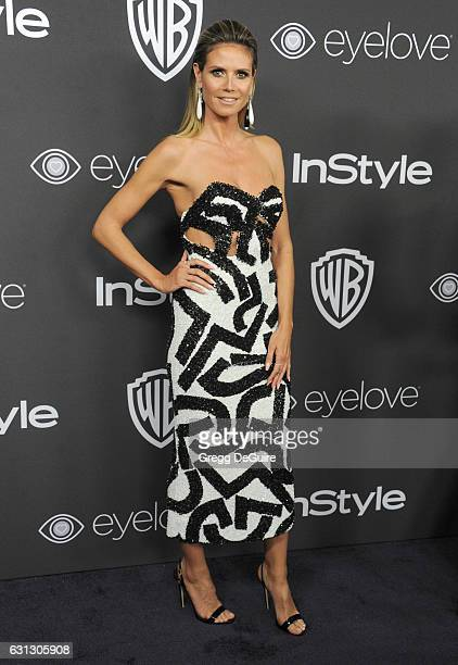 Heidi Klum arrives at the 18th Annual PostGolden Globes Party hosted by Warner Bros Pictures and InStyle at The Beverly Hilton Hotel on January 8...