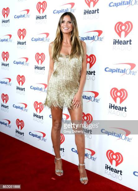 Heidi Klum arrives at the 2017 iHeartRadio Music Festival at TMobile Arena on September 22 2017 in Las Vegas Nevada