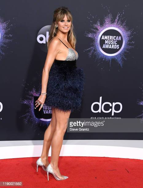Heidi Klum arrives at the 2019 American Music Awards at Microsoft Theater on November 24 2019 in Los Angeles California