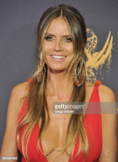 Heidi Klum arrives at the 69th Annual Primetime Emmy Awards at Microsoft Theater on September 17 2017 in Los Angeles California