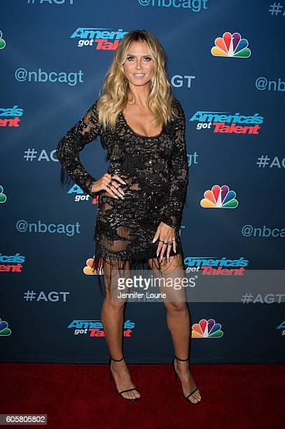 Heidi Klum arrives at the 'America's Got Talent' Season 11 Finale Live Show at the Dolby Theatre on September 14 2016 in Hollywood California