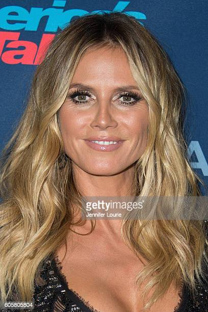 Heidi Klum arrives at the America's Got Talent Season 11 Finale Live Show at the Dolby Theatre on September 14 2016 in Hollywood California