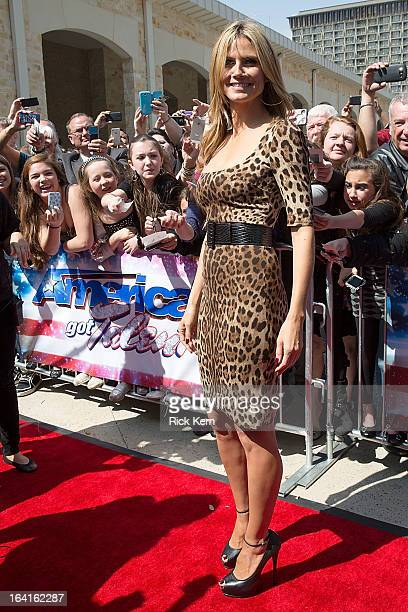 Heidi Klum arrives at the 'America's Got Talent' Season 8 auditions at the Lila Cockrell Theatre on March 20 2013 in San Antonio Texas
