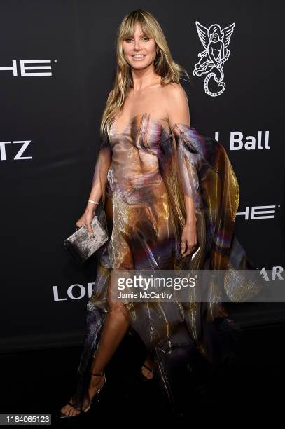 Heidi Klum arrives at the Angel Ball 2019 hosted by Gabrielle's Angel Foundation at Cipriani Wall Street on October 28 2019 in New York City