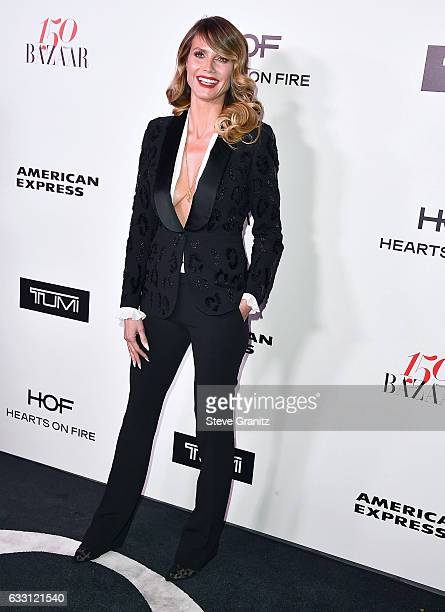 Heidi Klum arrives at the Harper's Bazaar Celebrates 150 Most Fashionable Women at Sunset Tower Hotel on January 27, 2017 in West Hollywood,...