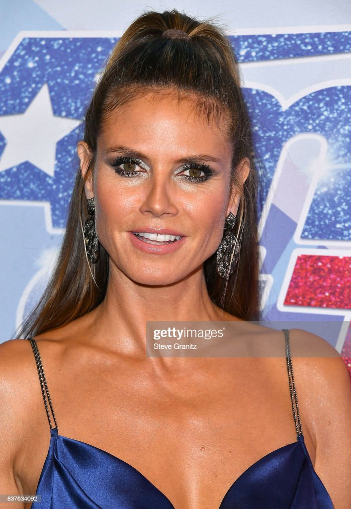Heidi Klum arrives at the NBC's 'America's Got Talent' Season 12 Live Show at Dolby Theatre on August 22, 2017 in Hollywood, California.