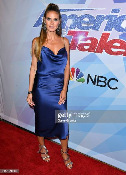 Heidi Klum arrives at the NBC's America's Got Talent Season 12 Live Show at Dolby Theatre on August 22 2017 in Hollywood California
