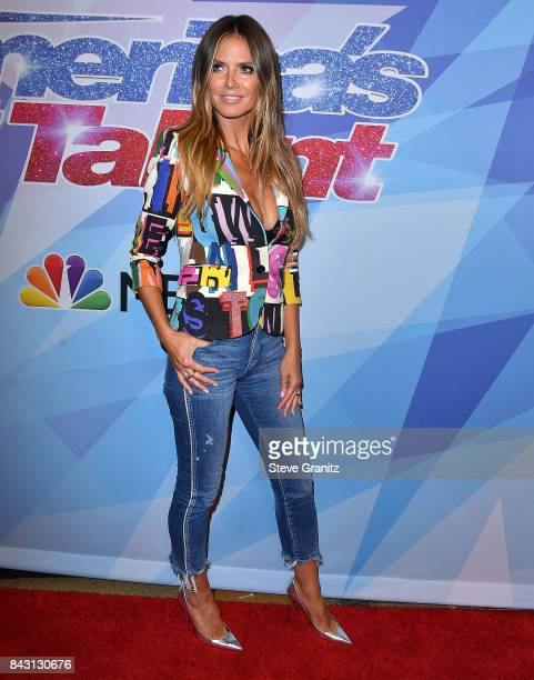 Heidi Klum arrives at the NBC's America's Got Talent Season 12 Live Show at Dolby Theatre on September 5 2017 in Hollywood California