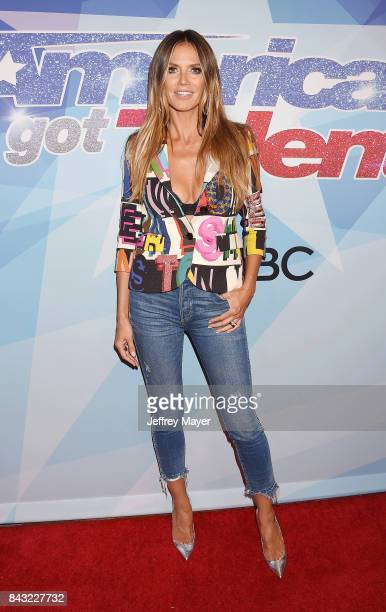 Heidi Klum arrives at the NBC's 'America's Got Talent' Season 12 Live Show at the Dolby Theatre on September 5 2017 in Hollywood California