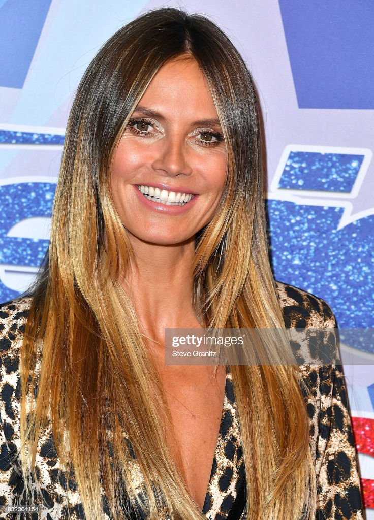 Heidi Klum arrives at the Premiere Of NBC's 'America's Got Talent' Season 12 at Dolby Theatre on August 15, 2017 in Hollywood, California.