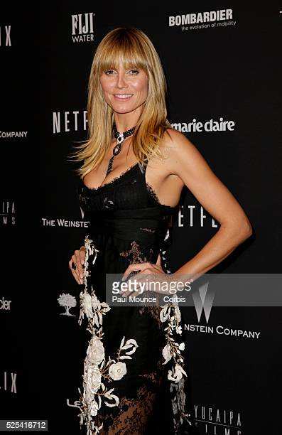 Heidi Klum arrives at the Weinstein Company Golden Globes AfterParty
