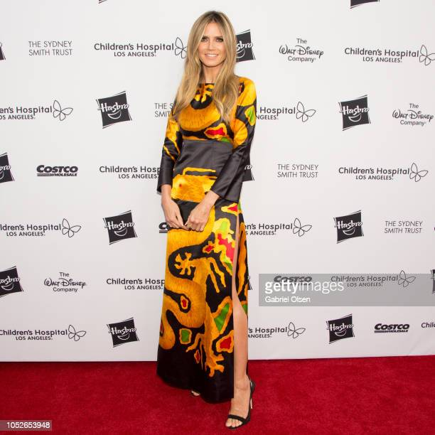 Heidi Klum arrives for 2018 From Paris with Love Children's Hospital Los Angeles Gala at LA Live Event Deck on October 20 2018 in Los Angeles...