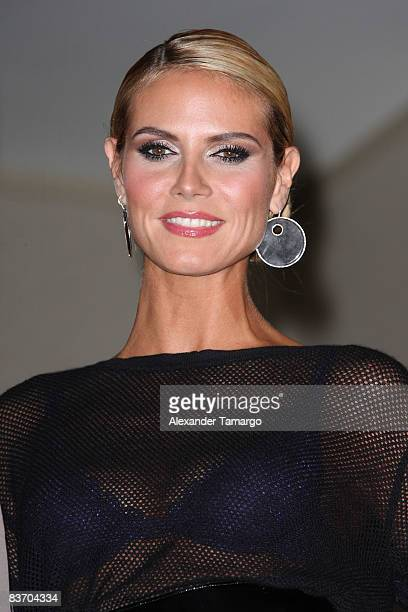 Heidi Klum arrives for the grand opening of Fontainebleau Miami Beach on November 14 2008 in Miami Beach Florida