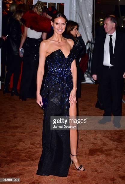 Heidi Klum arrives to the 2018 amfAR Gala New York at Cipriani Wall Street on February 7 2018 in New York City