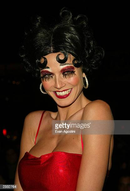 Heidi Klum arriving at Heidi Klum's 3rd Annual Halloween Bash at Capitale in New York City October 31 2002 Photo by Evan Agostini/Getty Images