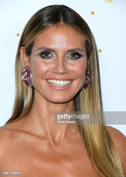 Heidi Klum arrvies at the America's Got Talent Season 13 Live Show Red Carpetat Dolby Theatre on September 11 2018 in Hollywood California