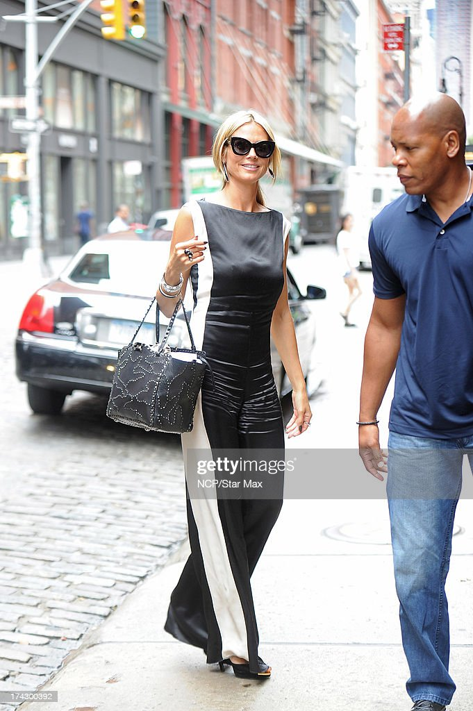 Heidi Klum as seen on July 23, 2013 in New York City.