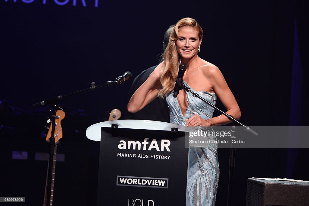 Heidi Klum at the amfAR's 21st Cinema Against AIDS Gala at Hotel du Cap-Eden-Roc during the 67th Cannes Film Festival