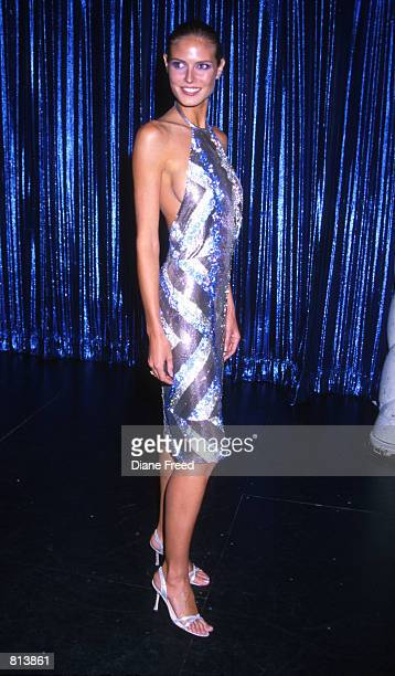 Heidi Klum at the Sports Illustrated Swimsuit Edition launch party at Supper Club in New York City February 9 1999