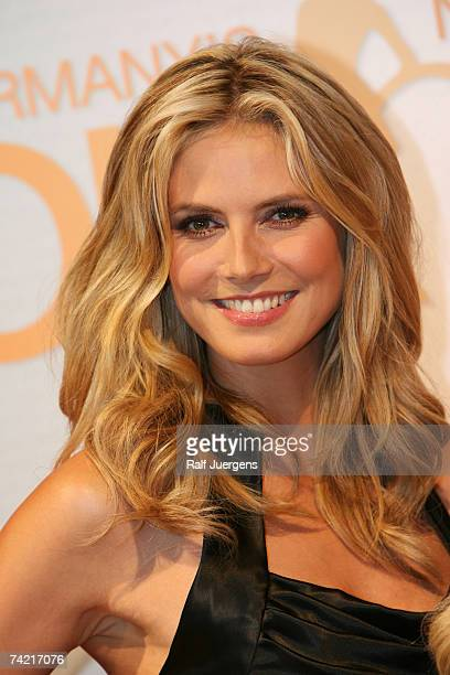 Heidi Klum attendas a photocall for PRO7 TV show 'Germany's Next Topmodel' on May 22 2007 at Cologne Germany