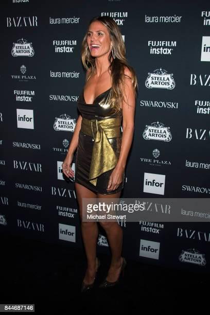 Heidi Klum attends 2017 Harper's Bazaar Icons at The Plaza Hotel on September 8 2017 in New York City