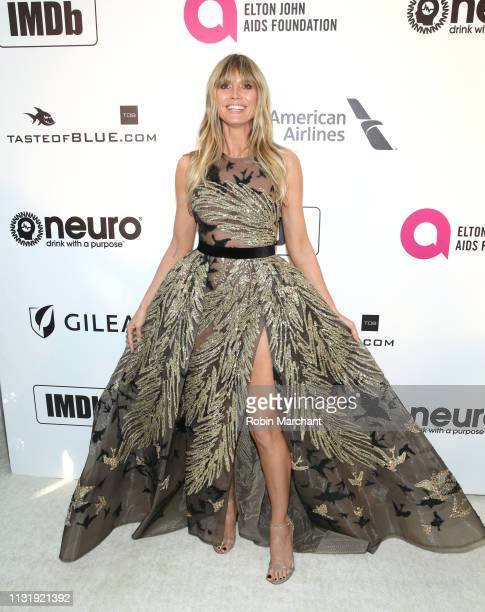 Heidi Klum attends 27th Annual Elton John AIDS Foundation Academy Awards Viewing Party Celebrating EJAF And The 91st Academy Awards on February 24...