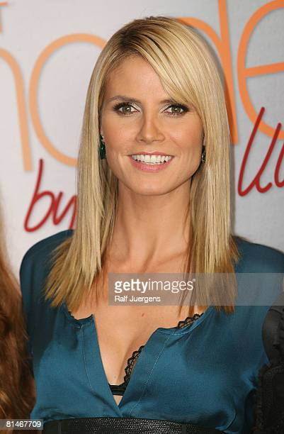 Heidi Klum attends a photocall for PRO7 TV show 'Germanys Next Topmodel' on June 05 2008 at Cologne Germany