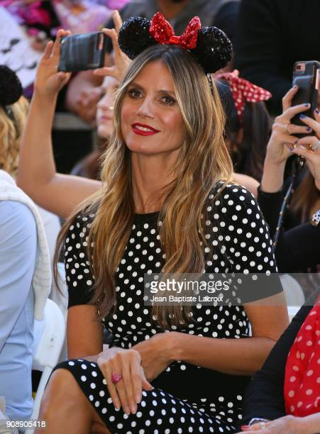 Heidi Klum attends a star ceremony in celebration of the 90th anniversary of Disney's Minnie Mouse at the Hollywood Walk of Fame on January 22 2018...