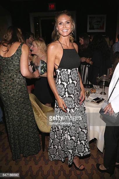 Heidi Klum attends Amazon Lionsgate with The Cinema Society Host the After Party for 'Cafe Society' at The Carlyle on July 13 2016 in New York City