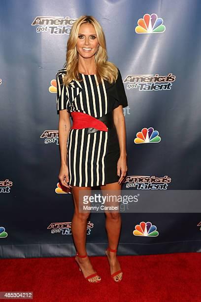 Heidi Klum attends 'America's Got Talent' PostShow Red Carpet Event at Radio City Music Hall on August 26 2015 in New York City